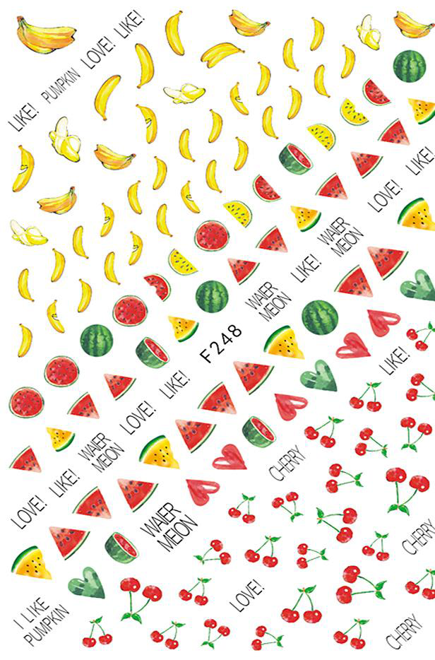 Fruity Nail Sticker
