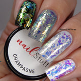 Champagne - Iridescent Nail Flakes