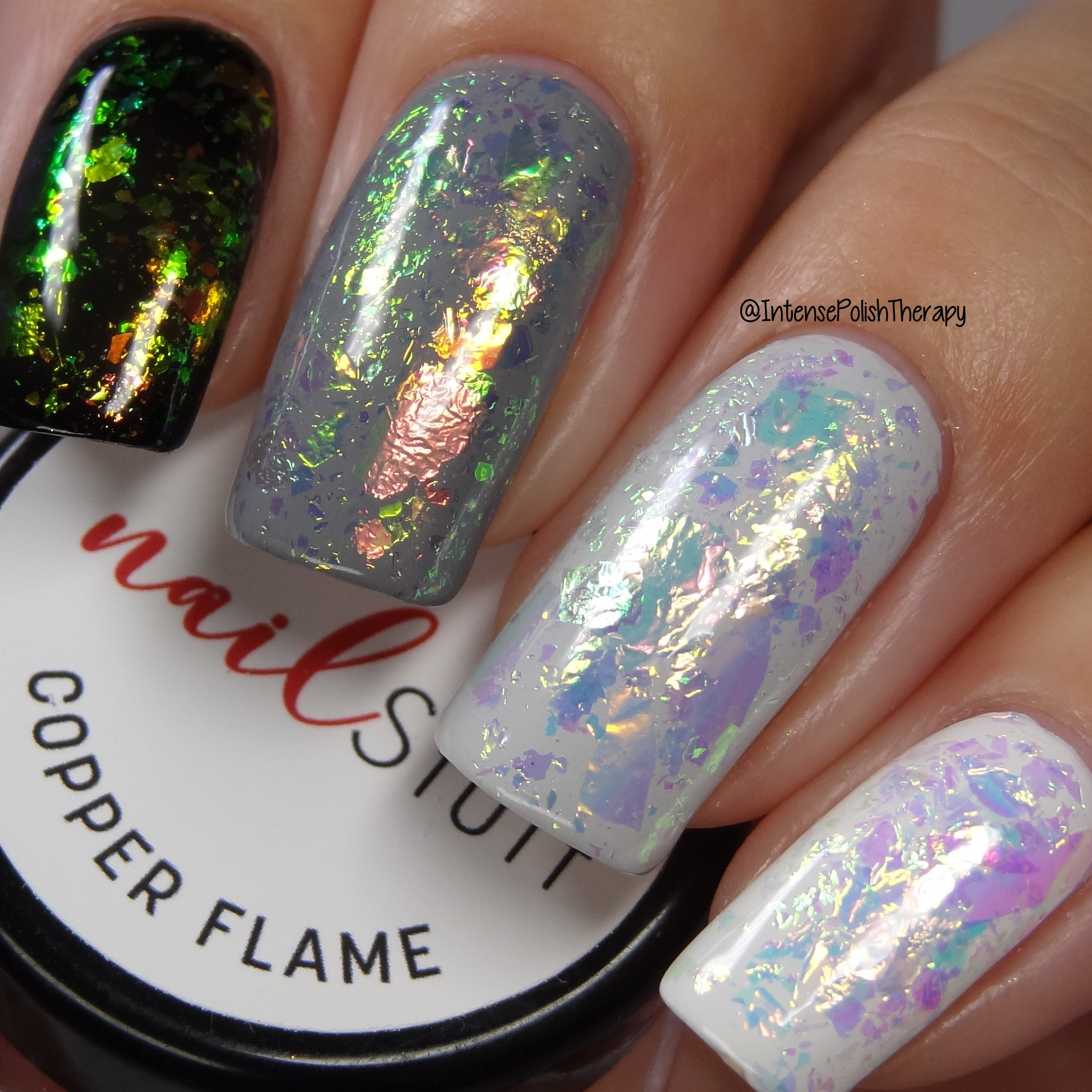Copper Flame - Iridescent Nail Flakes