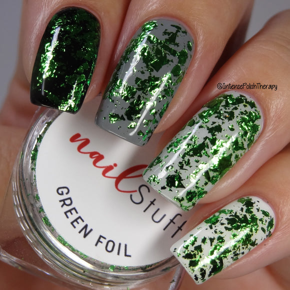 Green Metallic Foil Flakes