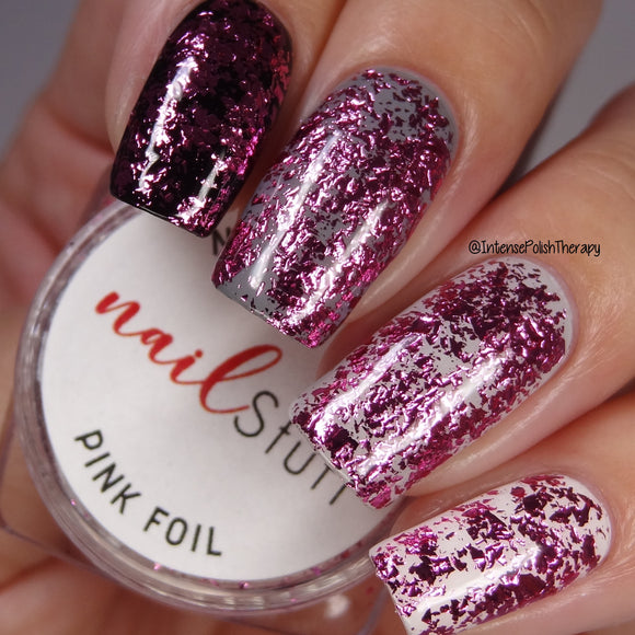 Pink Metallic Foil Flakes
