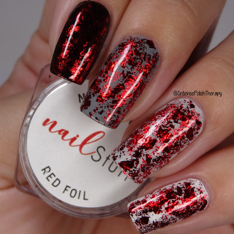NailStuff - Red Metallic Foil Flakes