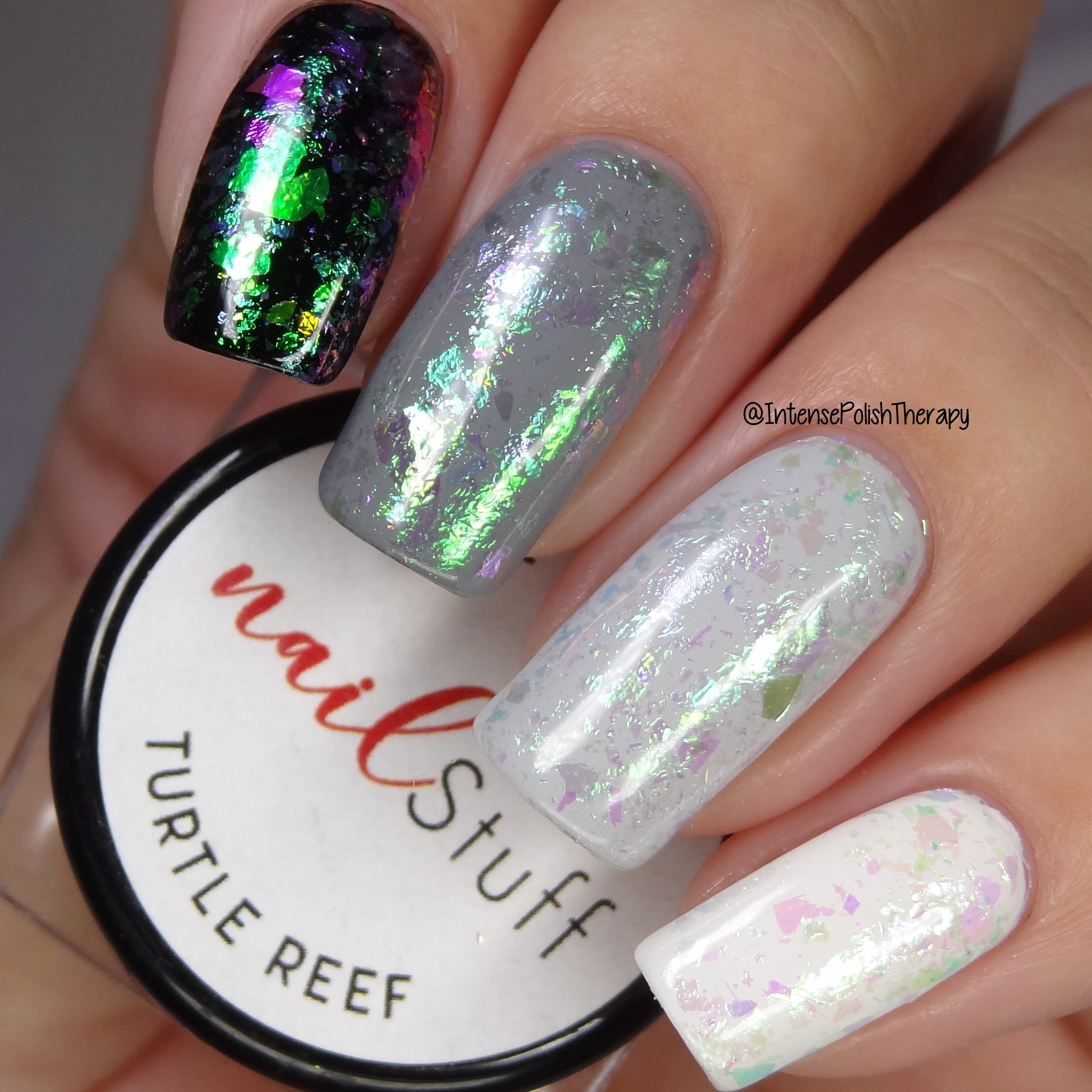 Turtle Reef - Iridescent Nail Flakes