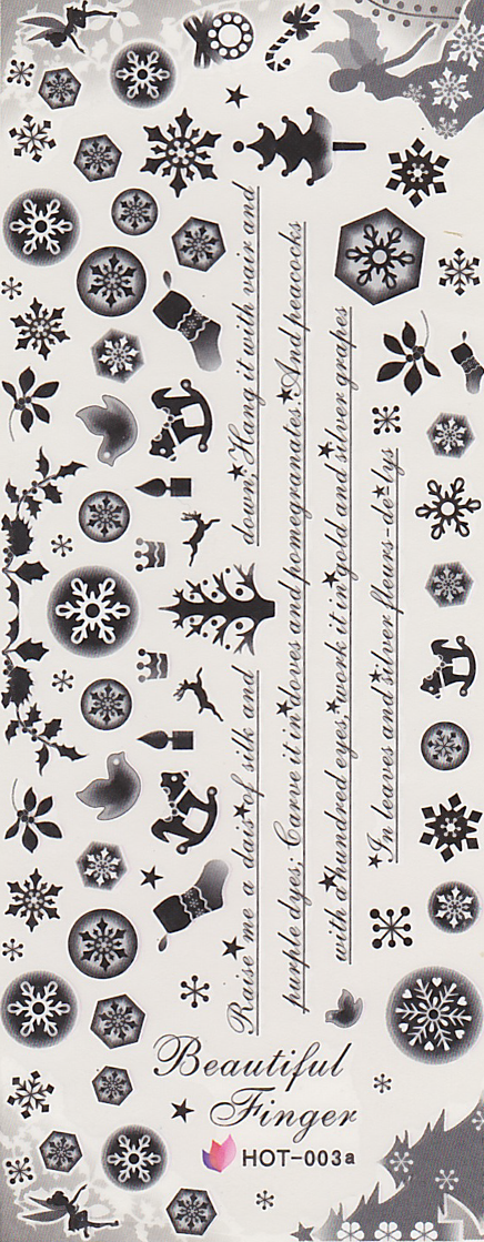 Winter Themed Large Sheet Water Decal