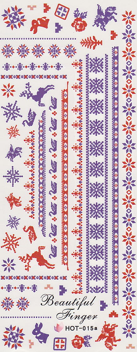 Christmas Fair Isle Large Sheet Water Decal