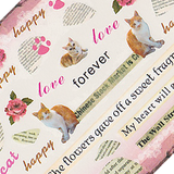 Cats and Newsprint Large Sheet Water Decal