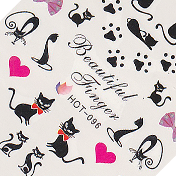 Cats and Bows Large Sheet Water Decal