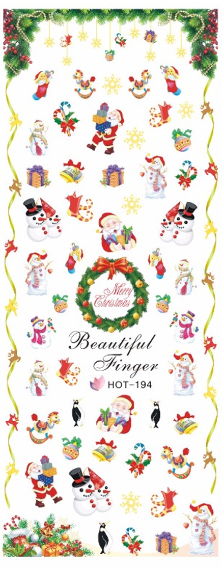 Christmas Santa and Snowmen Water Decal