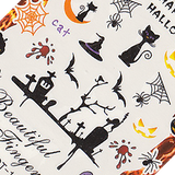Halloween Tombstone Large Sheet Water Decal