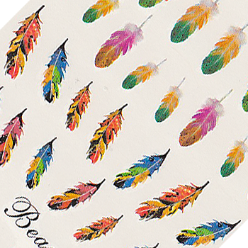 Feathers Large Sheet Water Decal
