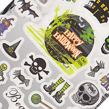 Halloween Skeleton Large Sheet Water Decal