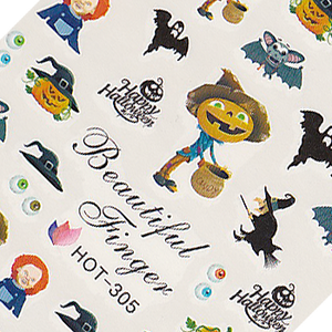 Halloween Pumpkin Large Sheet Water Decal