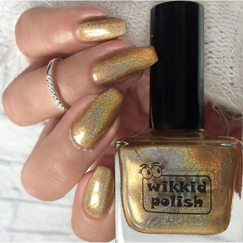 Wikkid Polish - Premium Holo - Butterscotch Nail Polish