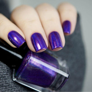 Wikkid Polish - Premium Holo - I Know How To Purple Nail Polish