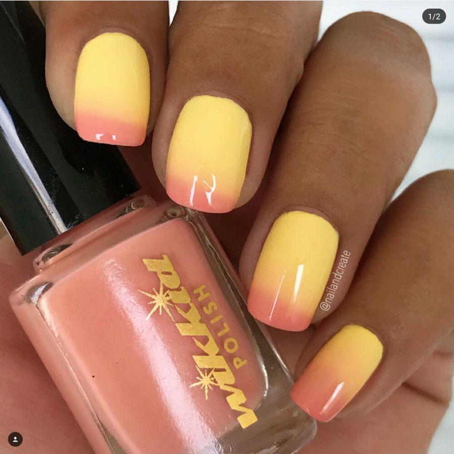 Wikkid Polish - Thermals - Rhubarb & Custard Nail Polish