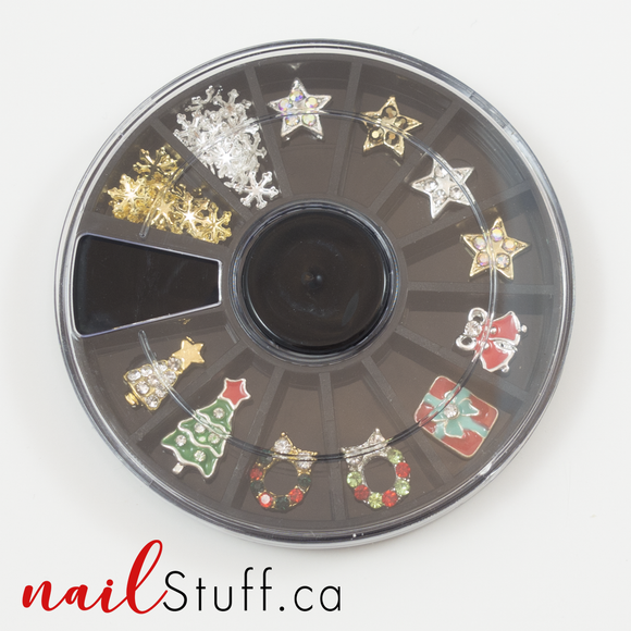 Christmas Nail Decoration Wheel