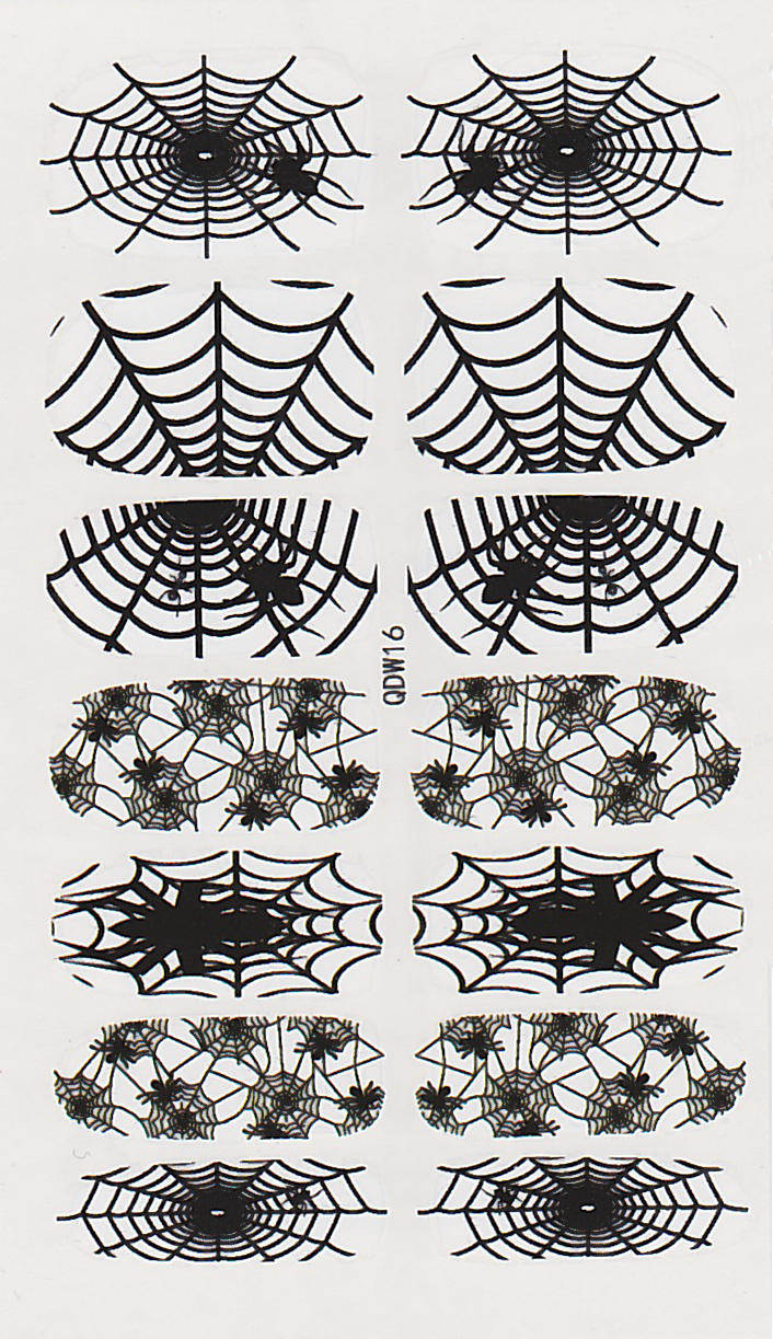 Halloween Spiderweb Full Nail Water Decals