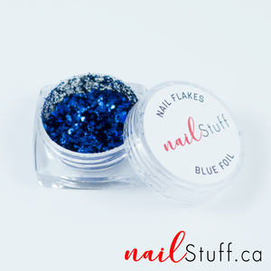 Blue Metallic Foil Flakes