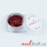 Red Metallic Foil Flakes