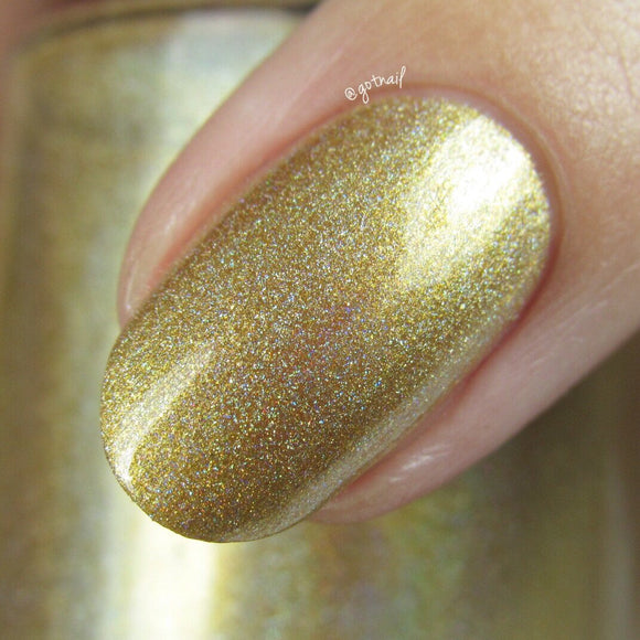Dam Nail Polish - Holo World - Holo Can You Gold?