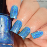 Dam Nail Polish - Seriously Rainbows - Believe Me It's Blue