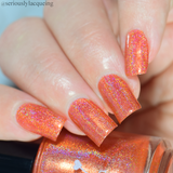 Dam Nail Polish - Seriously Rainbows - Obviously Orange