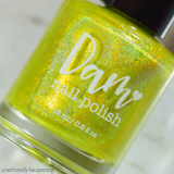 Dam Nail Polish - Seriously Rainbows - Yep It's Yellow