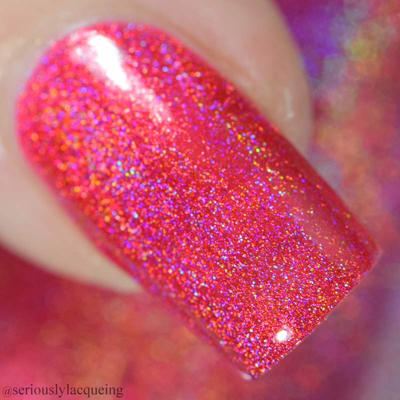 Dam Nail Polish - Seriously Rainbows - Really Red
