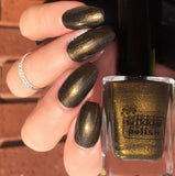 Wikkid Polish - Shimmer - Black Gold Nail Polish