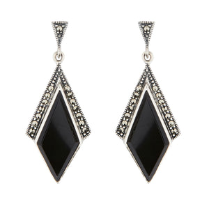 Wellington_&_North_Art_Deco_Jewellery_Stella_Black_Onyx_Marcasite_925_Sterling_Silver_Drop_Earrings