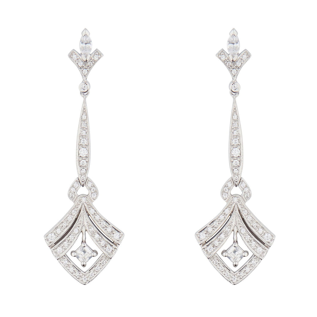 Wellington_&_North_Art_Deco_Jewellery_Sophia_Cubic_Zirconia_925_Sterling_Silver_Drop_Earrings