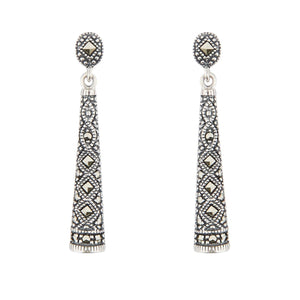 Wellington_&_North_Jewellery_Imogen__Art_Deco_Marcasite_925_Sterling_Silver_Drop_Earrings