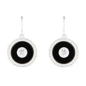 Wellington_&_North_Art_Deco_Jewellery_Marilyn_Cubic_Zirconia_Black_Onyx_925_Sterling_Silver_Round_Drop_Earrings