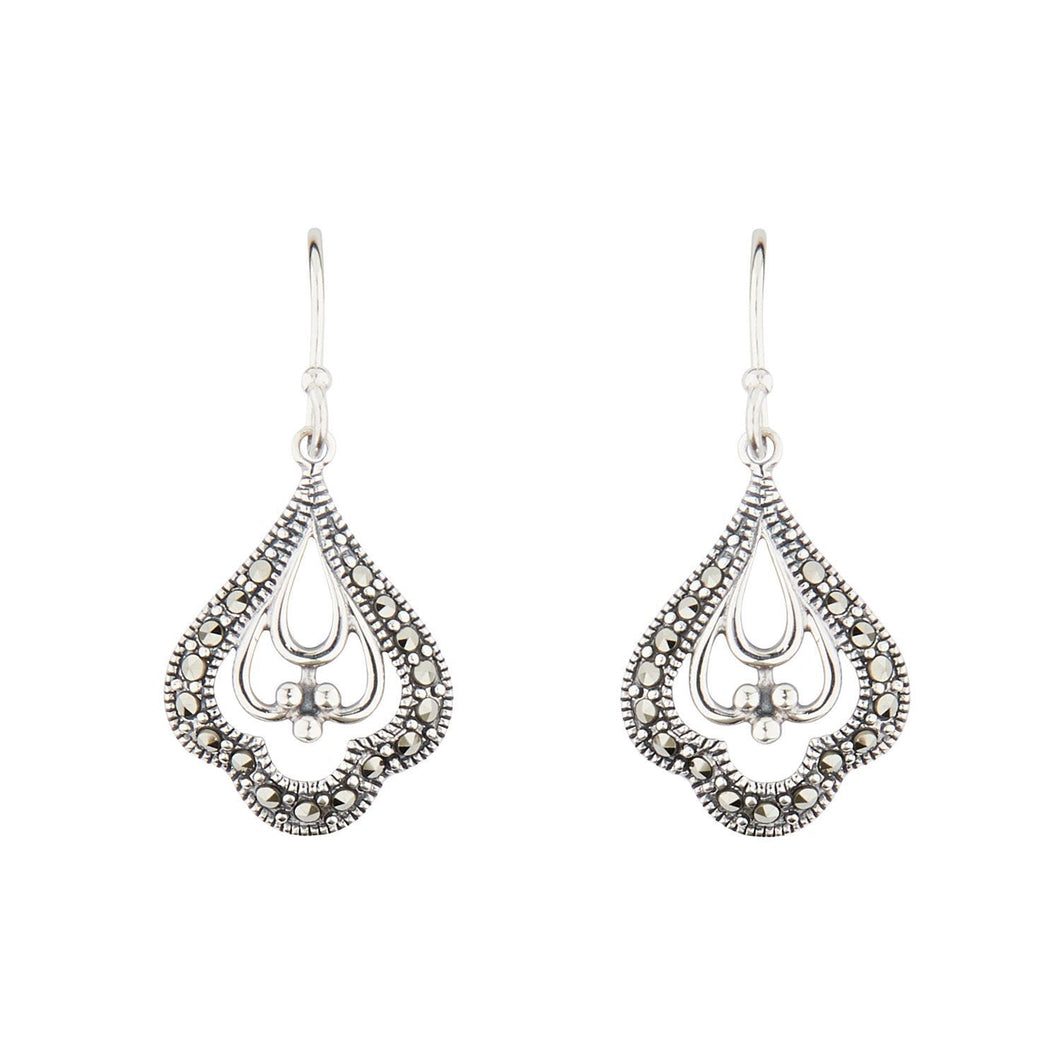 Wellington_&_North_Jewellery_Charlotte_Art_Deco_Marcasite_925_Sterling_Silver_Drop_Earrings