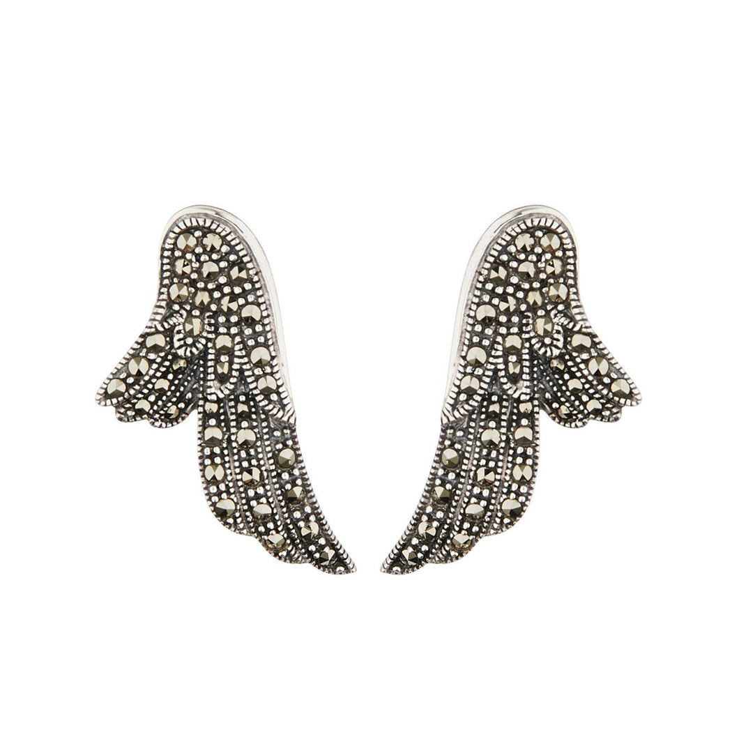 Wellington_&_North_Art_Deco_Jewellery_Stevie_Marcasite_925_Sterling_Silver_Angel_Wing_Earrings