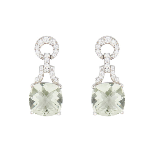 Wellington_&_North_Art_Deco_Jewellery_Rosalind_Cushion_Cut_Green_Amethyst_Cubic_Zirconia_925_Sterling_Silver_Drop_Earrings