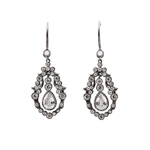 Zara: Cubic Zirconia and Sterling Silver Earrings