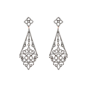 Demelza: Cubic Zirconia Sterling Silver Drop Earrings