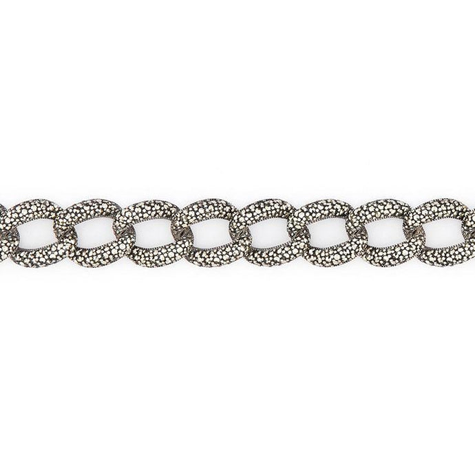 Wellington_&_North_Jewellery_Janis_Art_Deco_Marcasite_925_Sterling_Silver_Chunky_Chain_Bracelet