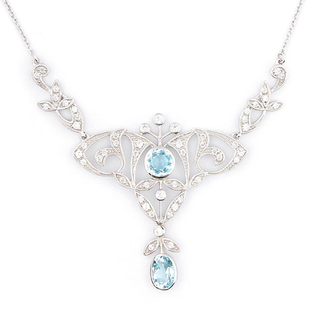Wellington_&_North_Art_Deco_Jewellery_Portia_Blue_Topaz_Cubic_Zirconia_925_Sterling_Silver_Necklace