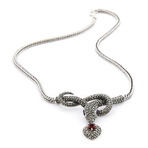 Wellington_&_North_Art_Deco_Jewellery_Suzi_925_Sterling_Silver_Marcasite_Garnet_Snake_Statement_Necklace
