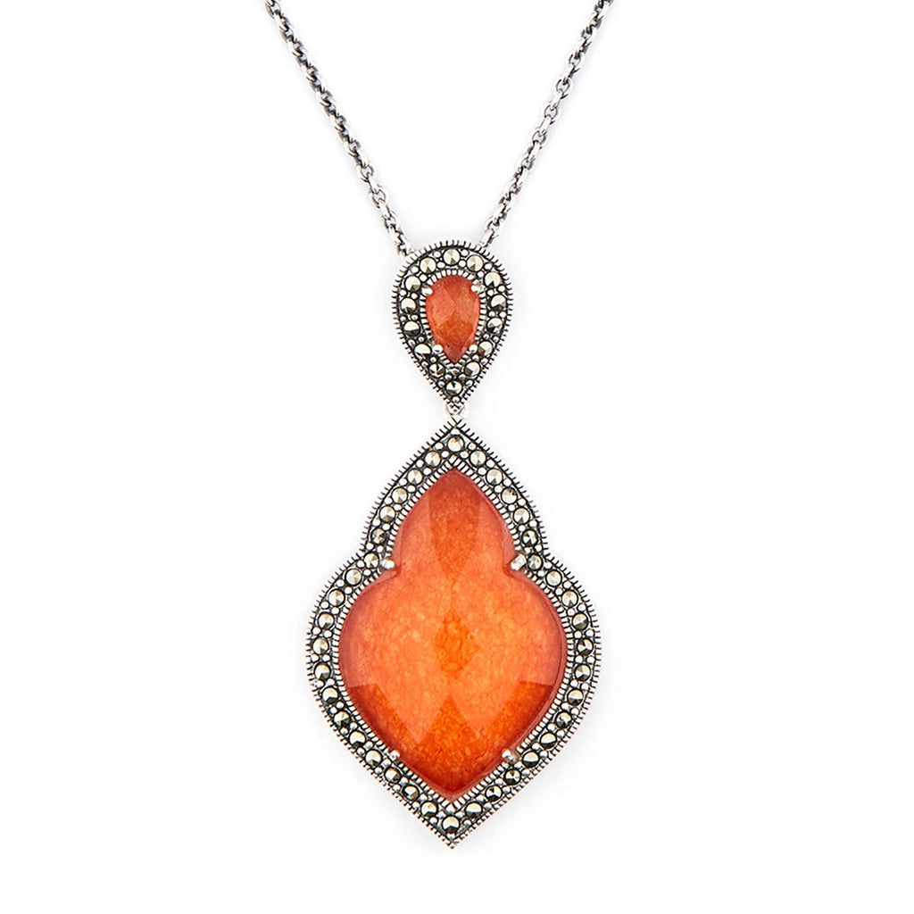 Wellington_&_North_Art_Deco_Jewellery_Rita_Red_Jade_Marcasite_925_Sterling_Silver_Pendant