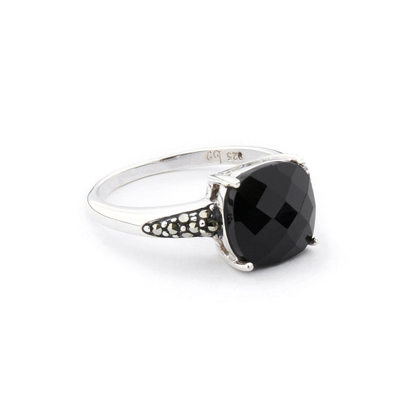 Wellington_&_North_Jewellery_Adeline_Art_Deco_Black_Onyx_Marcasite_925_Sterling_Silver_Ring_Side_View