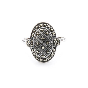 Wellington_&_North_Jewellery_Clementine_Art_Deco_Marcasite_925_Sterling_Silver_Ring_Front_View