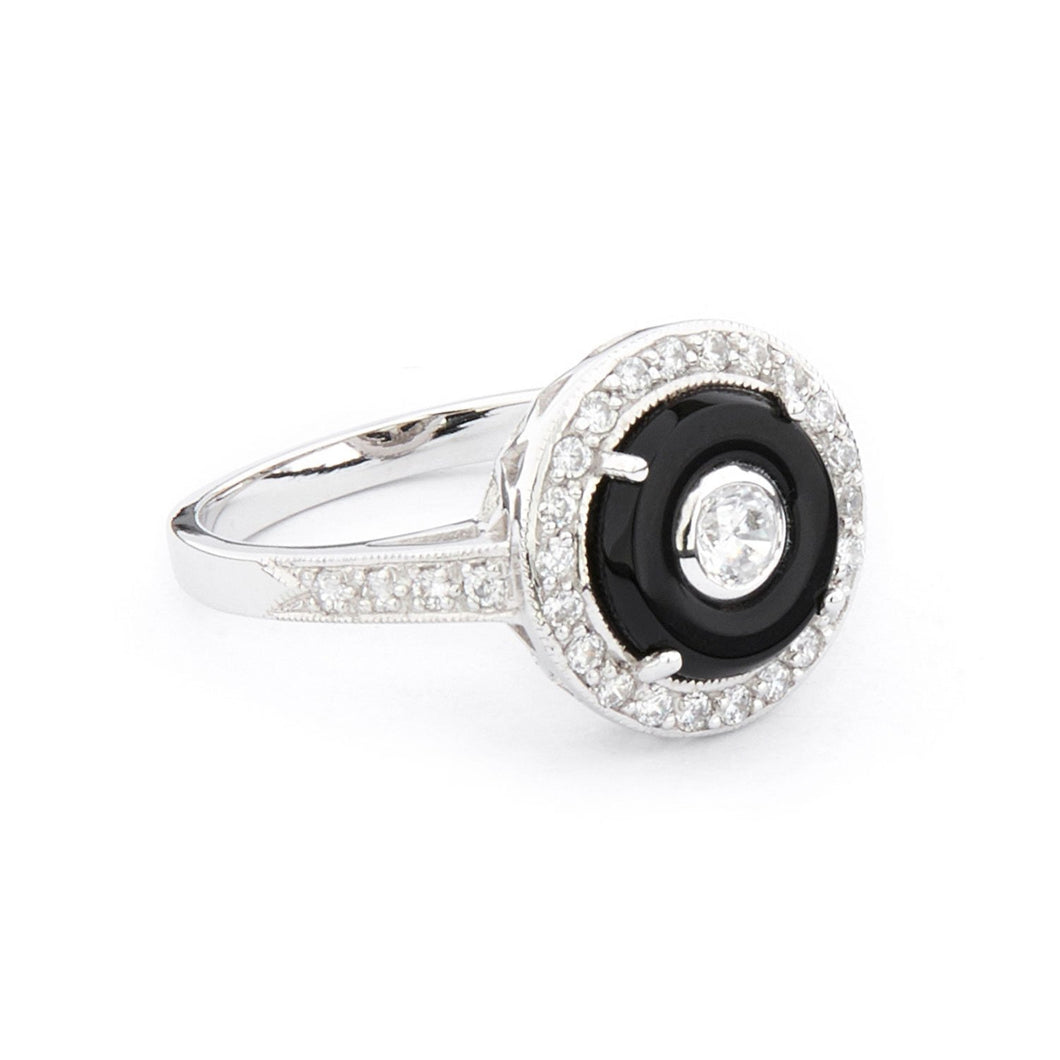 Wellington_&_North_Jewellery_Greta_Art_Deco_Black_Onyx_Cubic_Zirconia_925_Sterling_Silver_Ring_Side_View