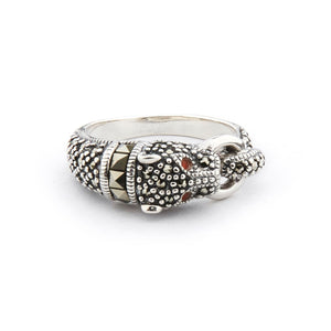 Wellington_&_North_Jewellery_Chrissie_Art_Deco_Marcasite_Carnelian_925_Sterling_Silver_Panther_Ring