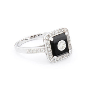 Wellington_&_North_Jewellery_Ingrid_Art_Deco_Black_Onyx_Cubic_Zirconia_925_Sterling_Silver_Ring_Side_View