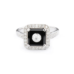 Wellington_&_North_Jewellery_Ingrid_Art_Deco_Black_Onyx_Cubic_Zirconia_925_Sterling_Silver_Ring_Front_View