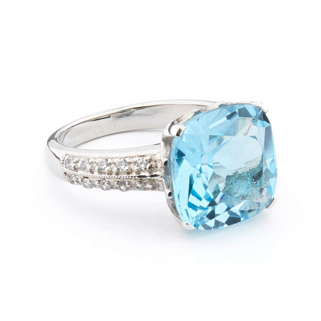 Wellington_&_North_Art_Deco_Jewellery_Rosalind_Cushion_Cut_Blue_Topaz_Cubic_Zirconia_925_Sterling_Silver_Ring_Side_View