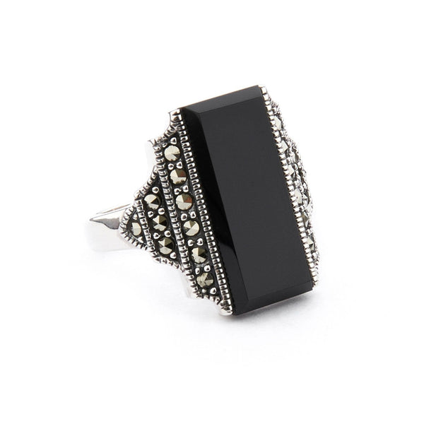 Wellington_&_North_Jewellery_Frances_Art_Deco_Black_Onyx_Marcasite_925_Sterling_Silver_Ring_Side_View
